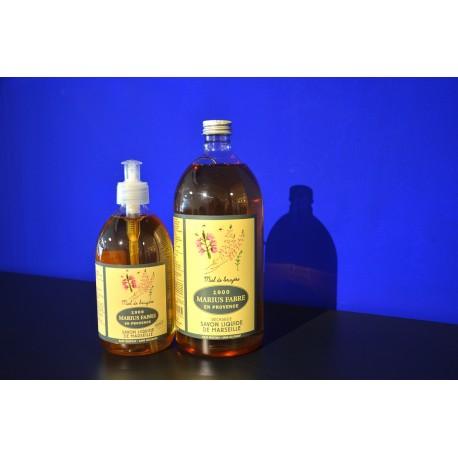 Savon liquide de Marseille - parfumé au Miel De Bruyere - recharge 1 L