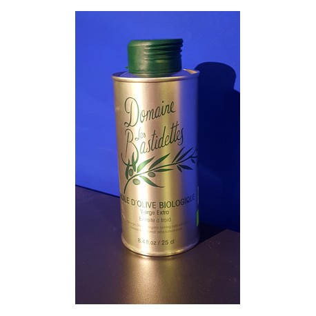 Huile d'Olive Biologique - Vierge Extra - Bidon 250 ml