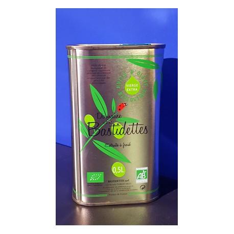 Huile d'Olive Biologique - Vierge Extra - Bidon 500 ml