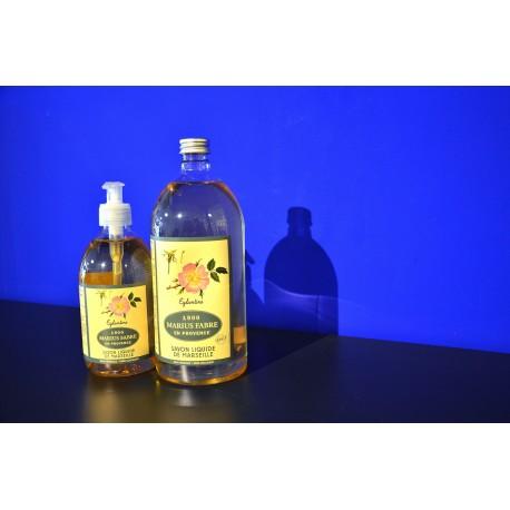Savon liquide de Marseille - parfumé à l'Eglantine - recharge 1 L