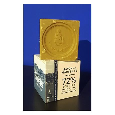 Cube Savon de Marseille Olive Boîte 200gr