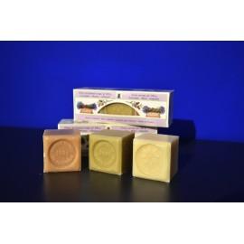 Trio Cube Lavande-Miel-Amande 3x100g