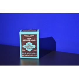 Savonnette à l'huile d'argan - parfumée à la Menthe poivrée 150gr